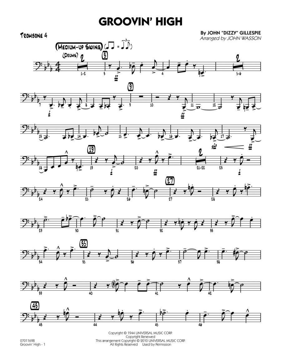 Groovin' High - Trombone 4