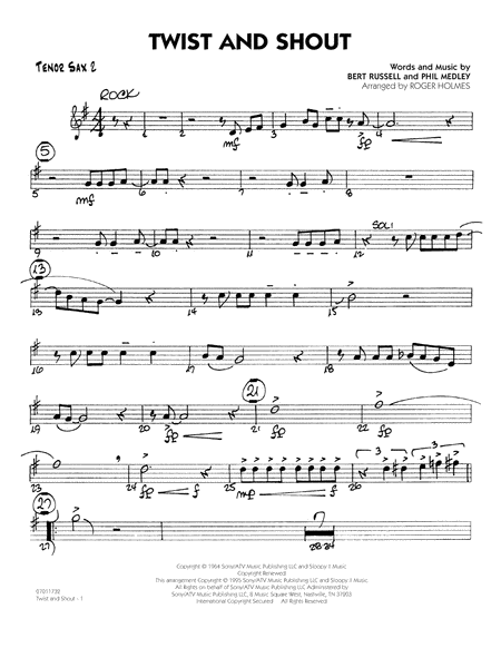 Twist And Shout - Tenor Sax 2