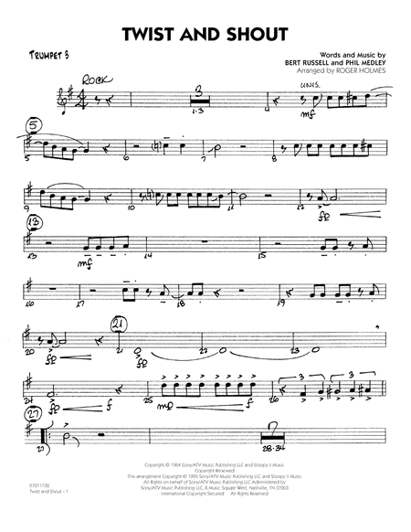 Twist And Shout - Trumpet 3