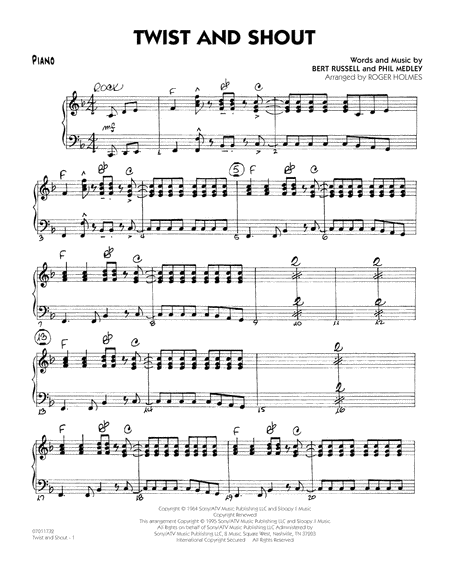 Twist And Shout - Piano