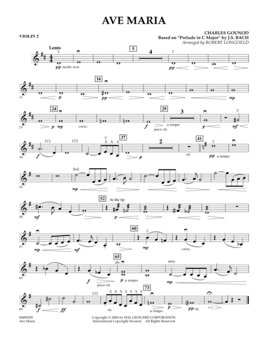 Ave Maria - Violin 2