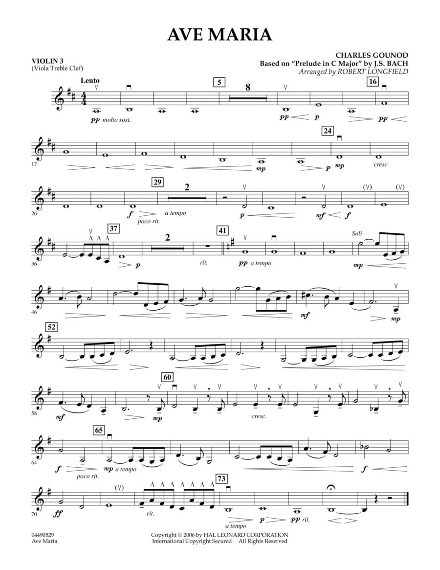 Ave Maria - Violin 3 (Viola T.C.)