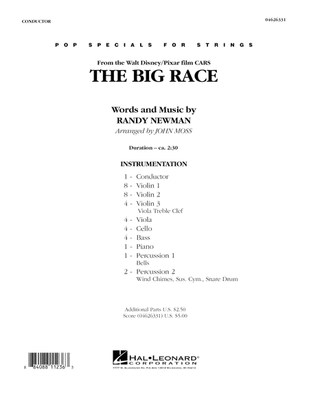 The Big Race (from Cars) - Full Score