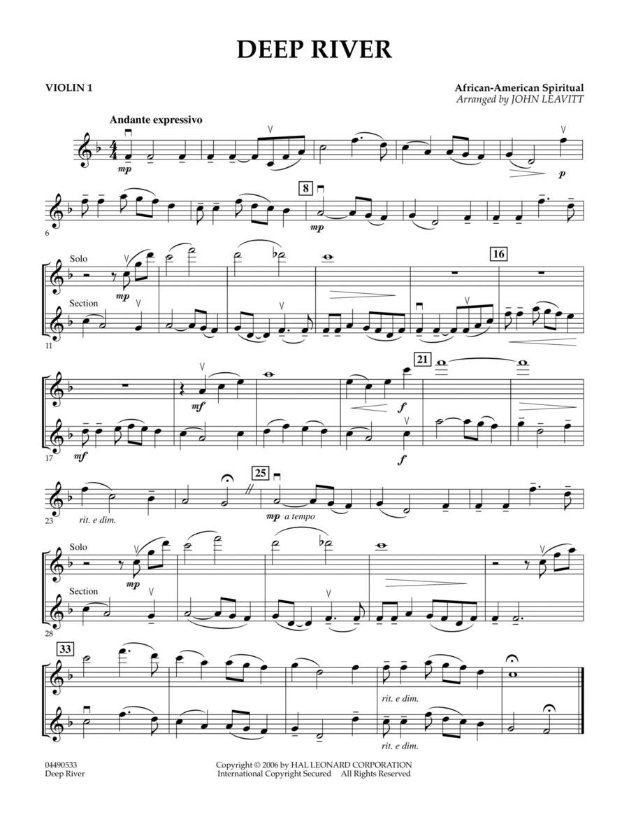 Deep River - Violin 1