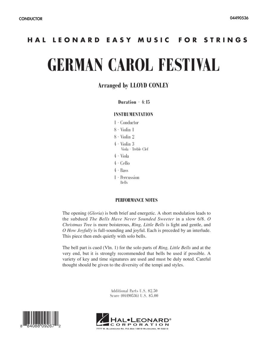German Carol Festival - Full Score
