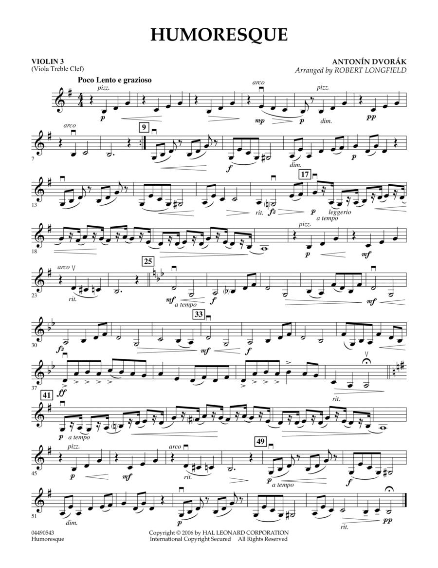 Humoresque - Violin 3 (Viola T.C.)