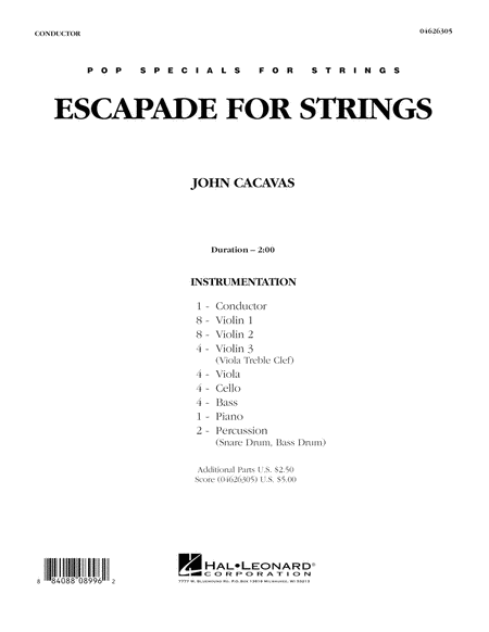 Escapade for Strings - Full Score