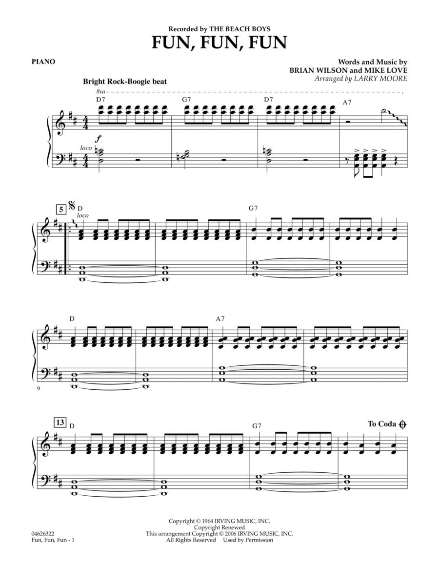 Fun, Fun, Fun - Piano