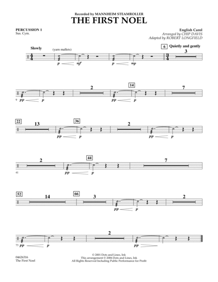 The First Noel - Percussion 1
