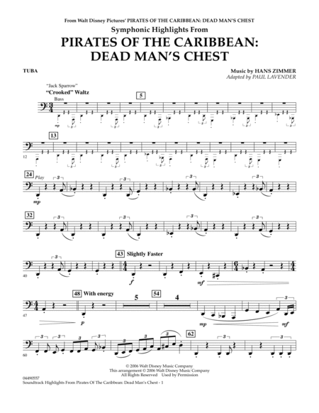 Soundtrack Highlights from Pirates Of The Caribbean: Dead Man's Chest - Tuba