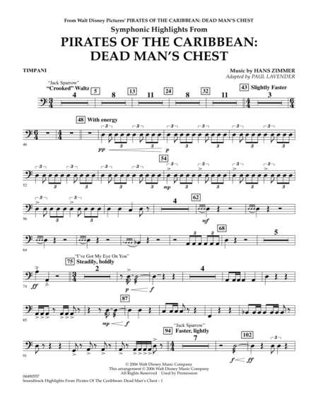 Soundtrack Highlights from Pirates Of The Caribbean: Dead Man's Chest - Timpani