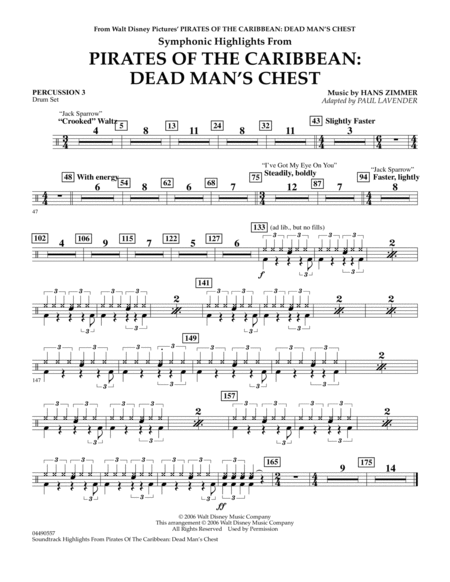 Soundtrack Highlights from Pirates Of The Caribbean: Dead Man's Chest - Percussion 3