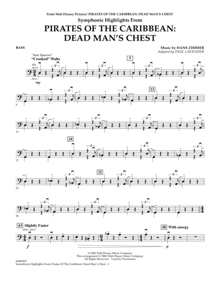 Soundtrack Highlights from Pirates Of The Caribbean: Dead Man's Chest - String Bass