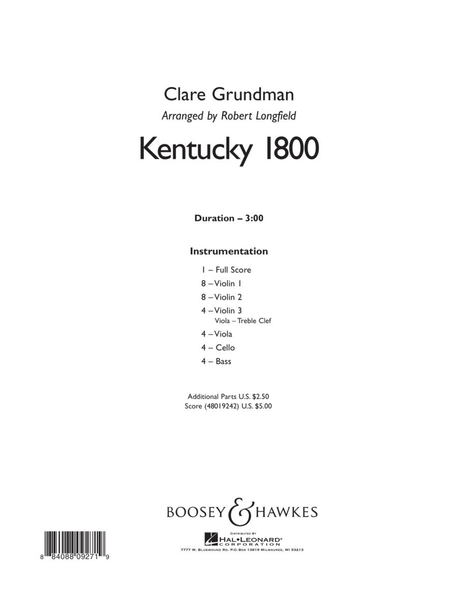 Kentucky 1800 - Conductor Score (Full Score)