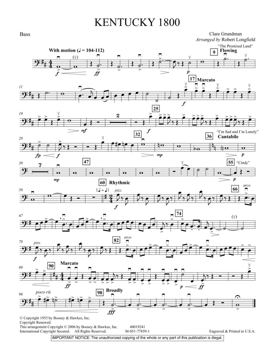 Kentucky 1800 - Bass