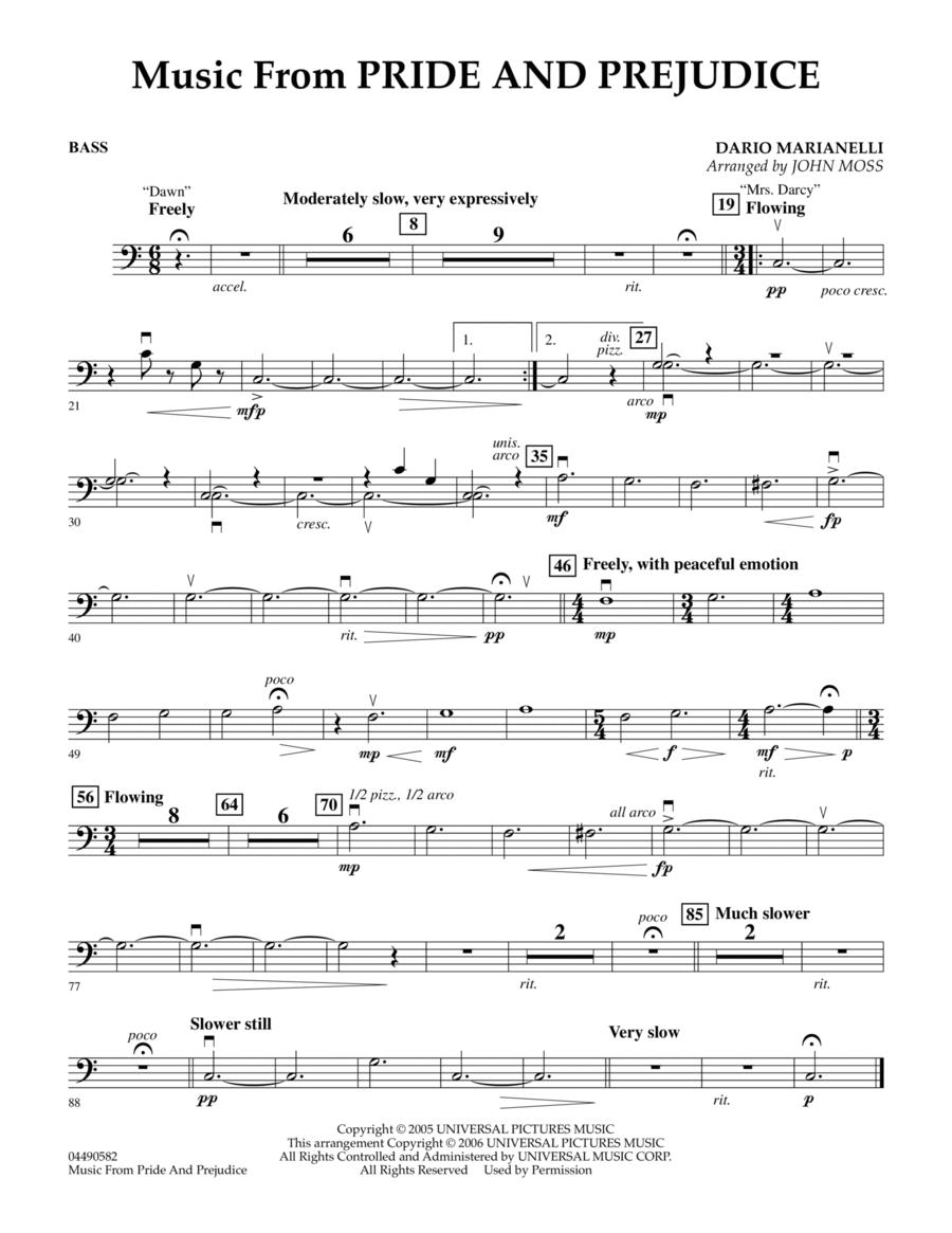 Music from Pride & Prejudice - String Bass