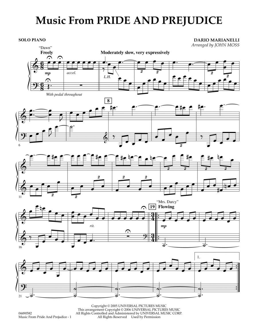 Music from Pride & Prejudice - Piano