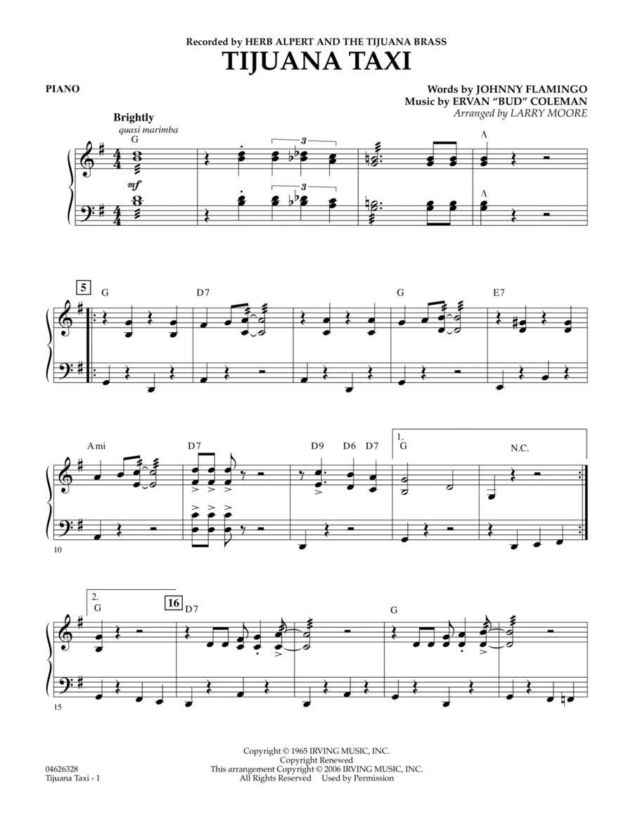 Tijuana Taxi - Piano