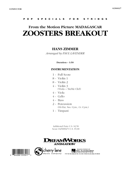 Zoosters Breakout (from Madagascar) - Full Score