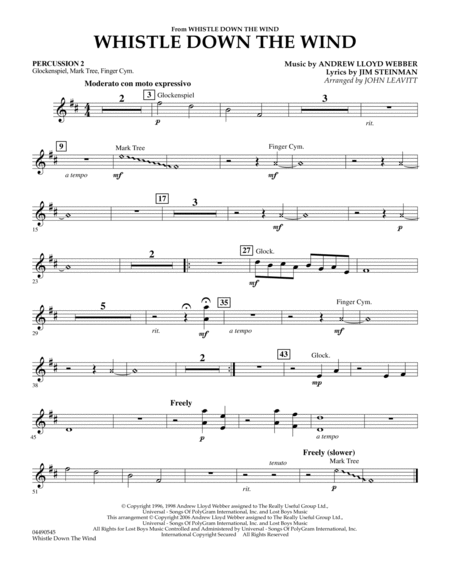 Whistle Down The Wind - Percussion 2