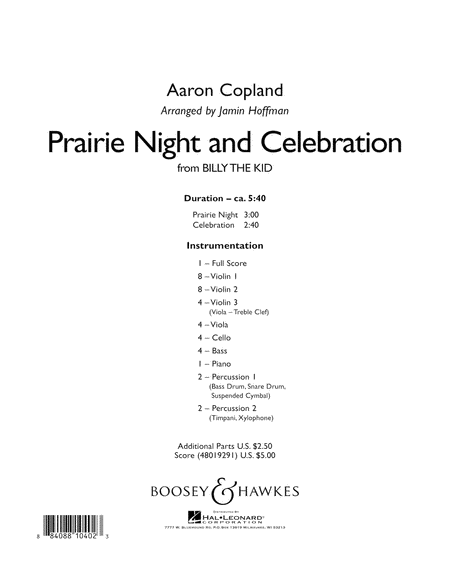 Prairie Night And Celebration (from Billy The Kid) - Conductor Score (Full Score)