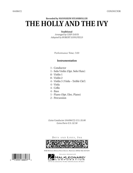 The Holly And The Ivy - Conductor Score (Full Score)