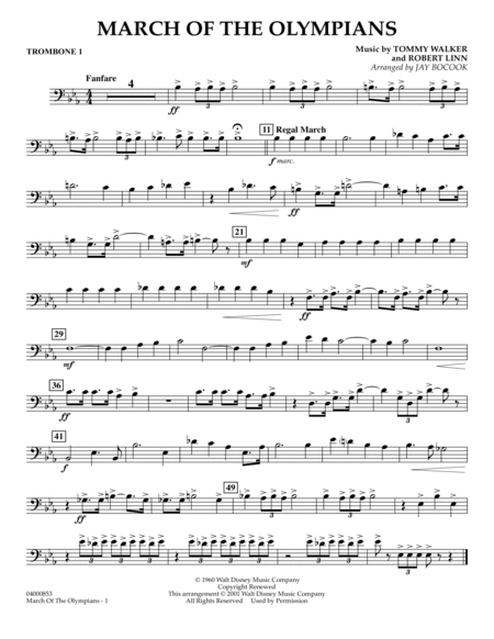 March Of The Olympians - Trombone 1