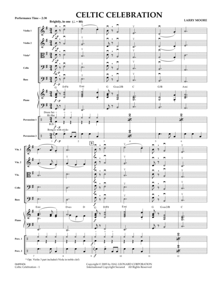 Celtic Celebration - Conductor Score (Full Score)