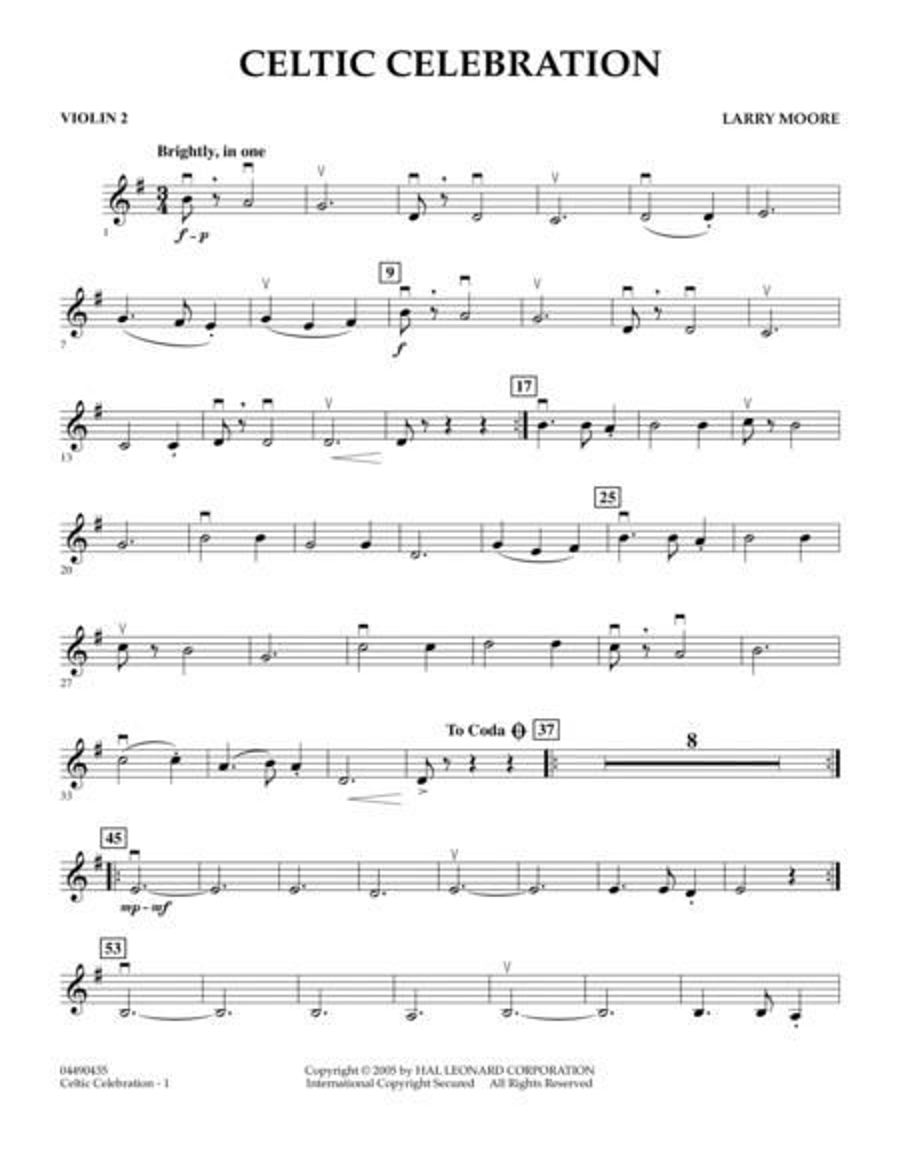 Celtic Celebration - Violin 2