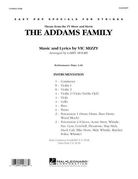 The Addams Family - Full Score