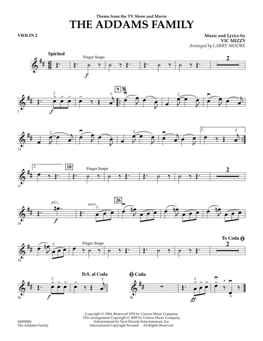 The Addams Family - Violin 2