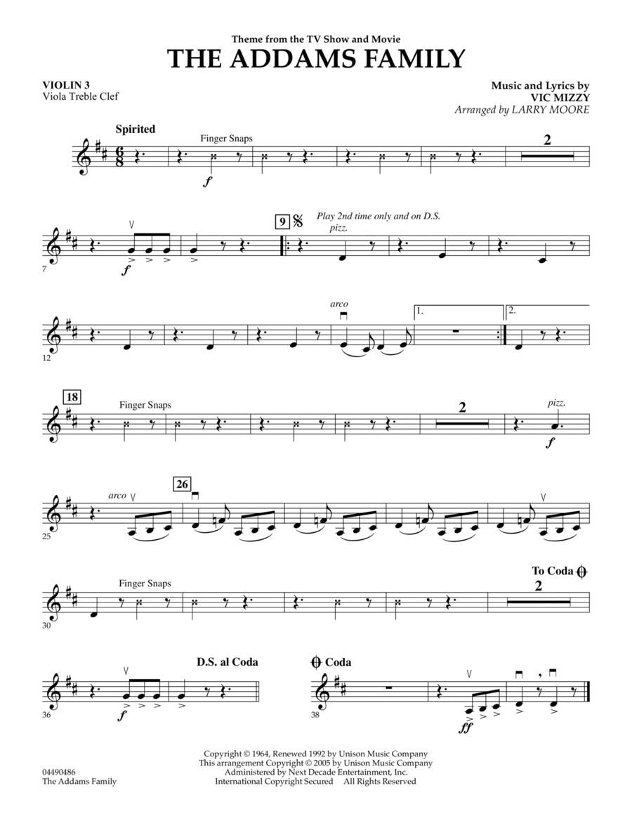 The Addams Family - Violin 3 (Viola Treble Clef)
