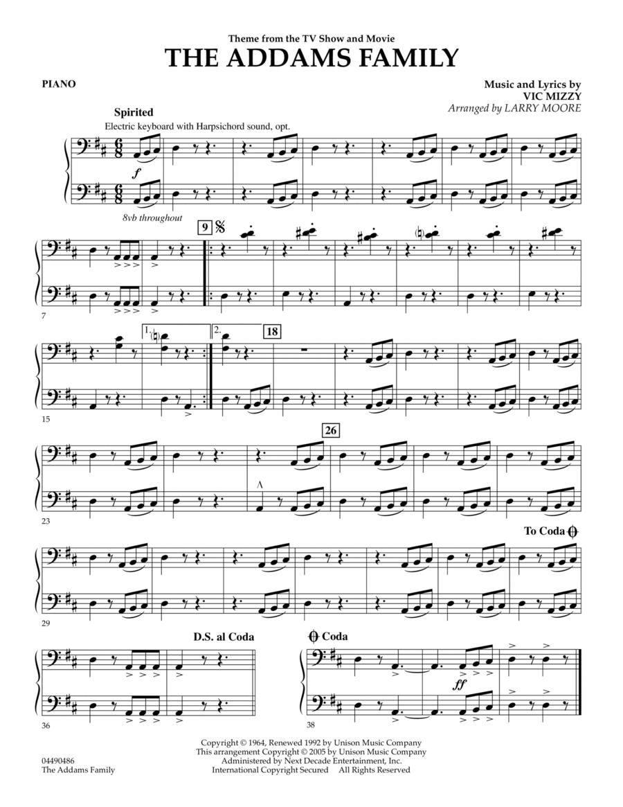The Addams Family - Piano