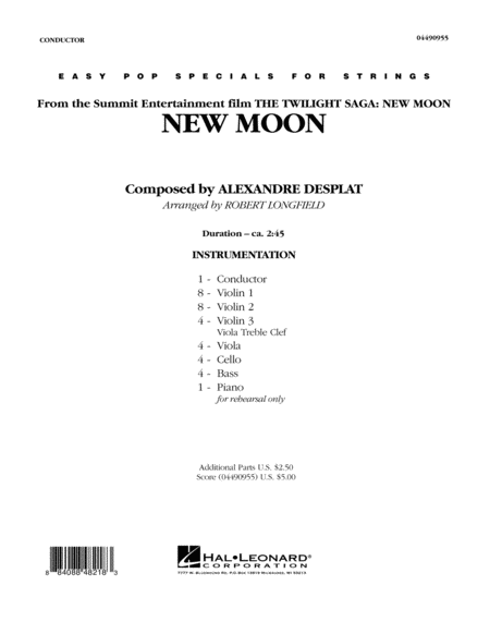 New Moon (The Meadow) - Conductor Score (Full Score)