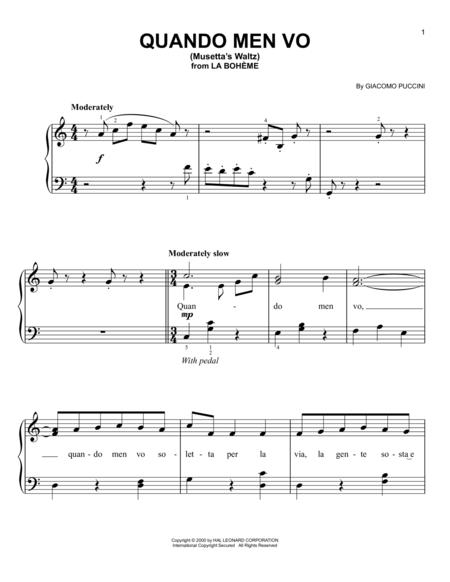 Quando Men Vo (Mussetta's Waltz)
