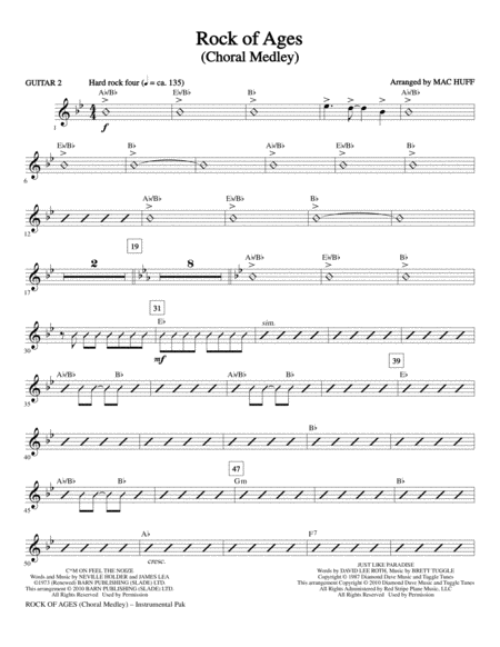 Rock Of Ages (Choral Medley) - Guitar 2