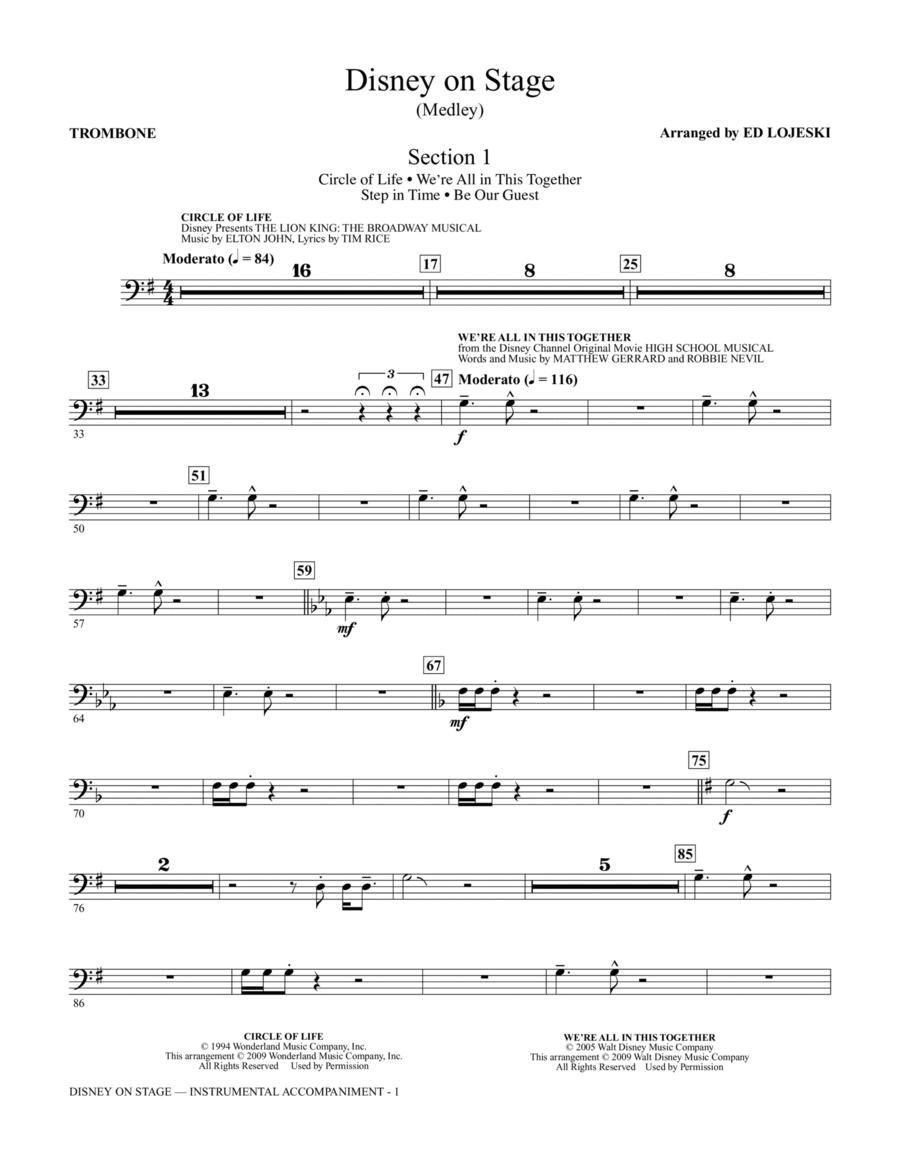 Disney On Stage (Medley) - Trombone