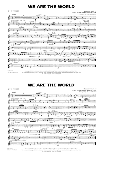 We Are The World - 2nd Bb Trumpet