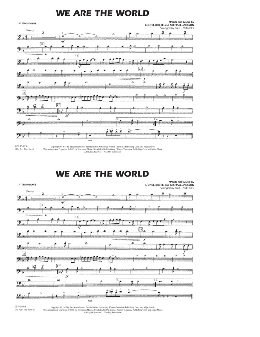 We Are The World - Trombone 1