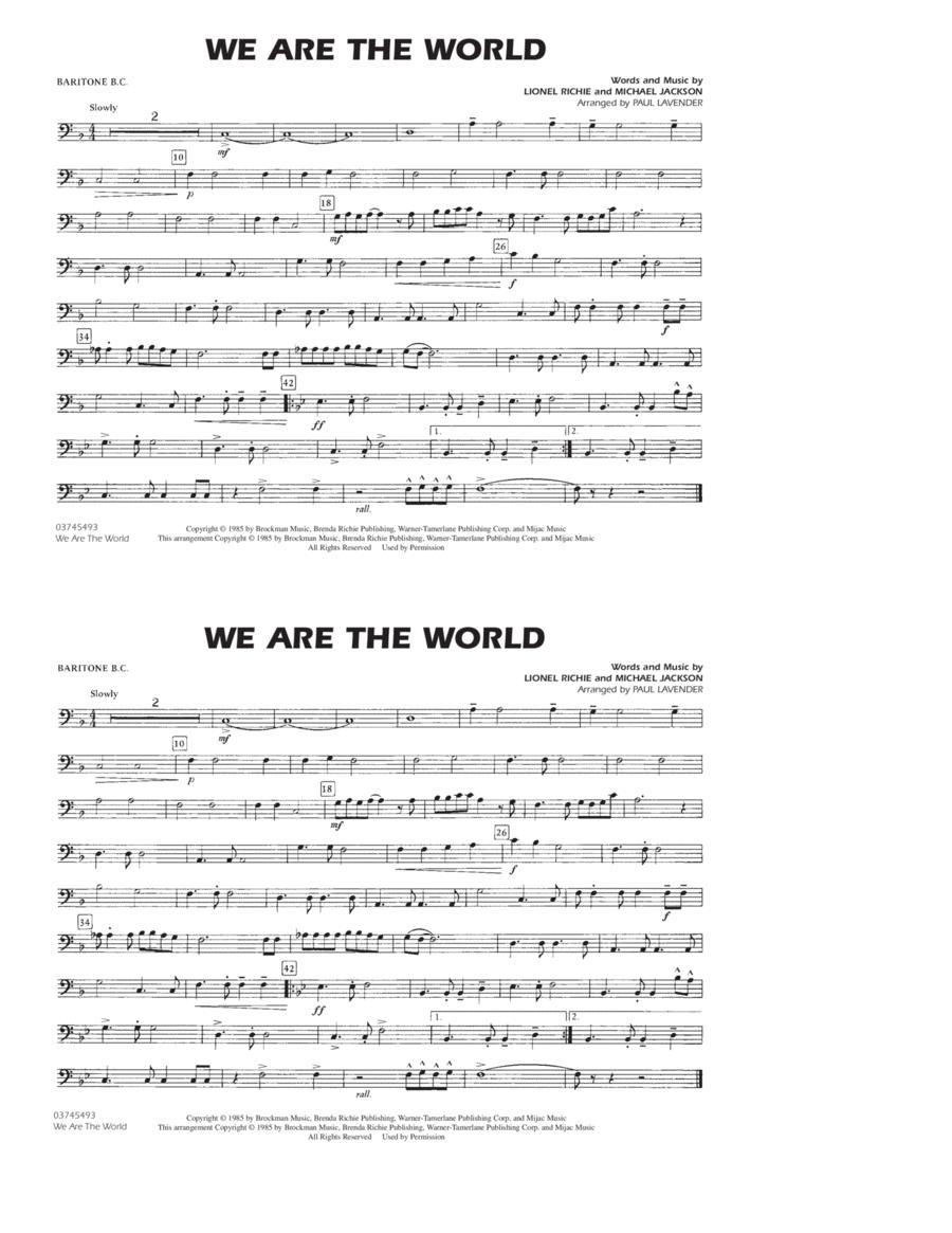 We Are The World - Baritone B.C.