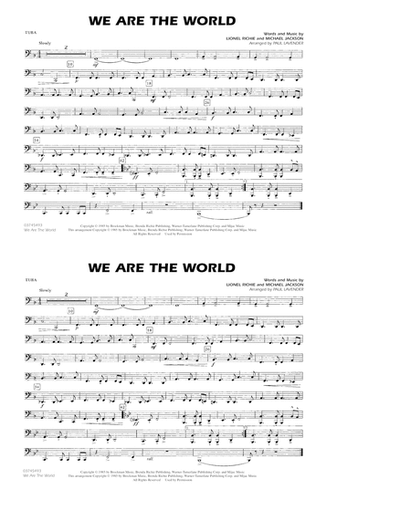 We Are The World - Tuba