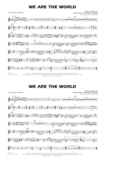 We Are The World - Xylophone/Marimba