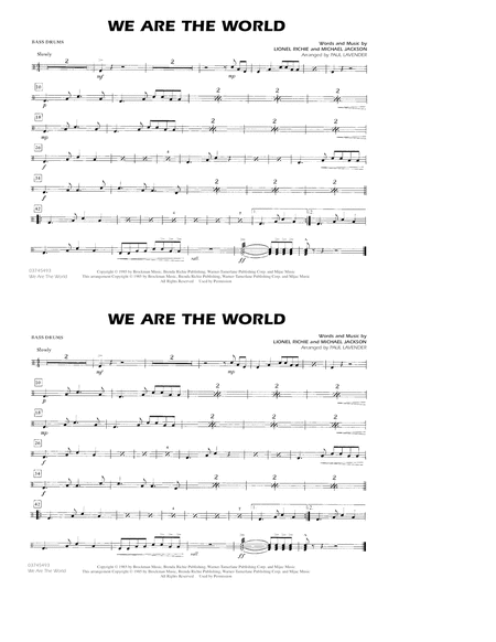 We Are The World - Multiple Bass Drums