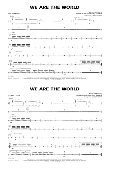We Are The World - Aux Percussion