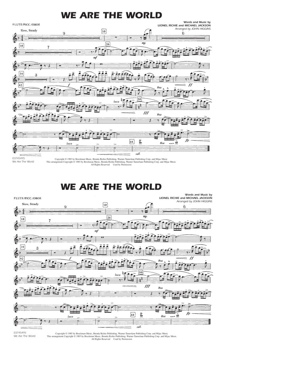 We Are The World - Flute/Piccolo
