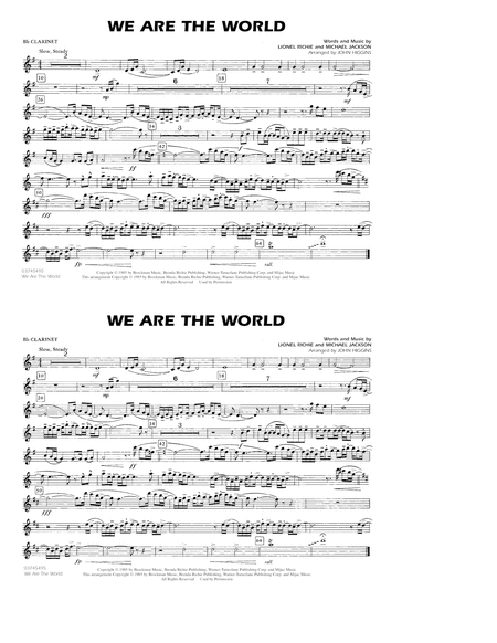 We Are The World - Bb Clarinet