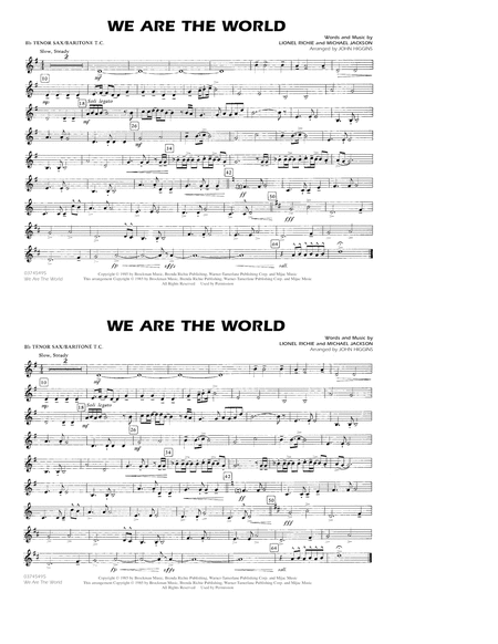 We Are The World - Bb Tenor Sax/Baritone TC