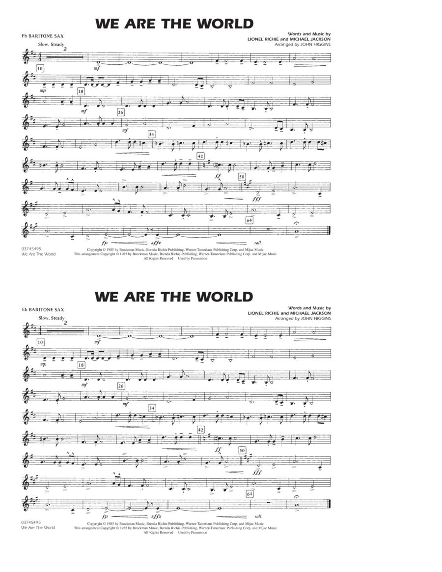 We Are The World - Eb Baritone Sax
