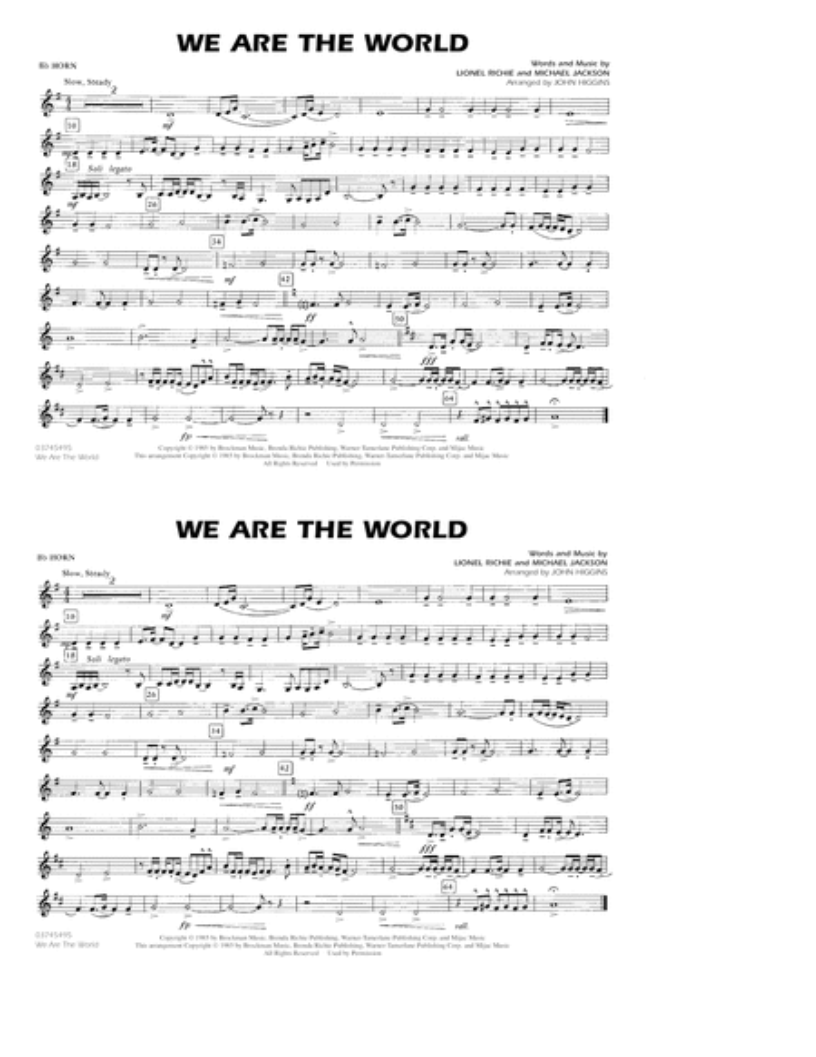 We Are The World - Bb Horn/Flugelhorn