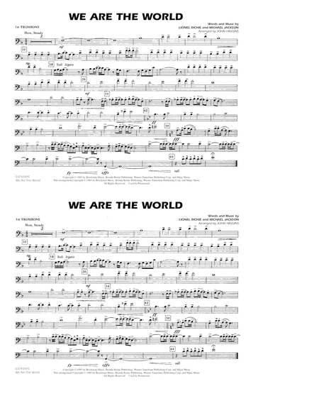 We Are The World - 1st Trombone